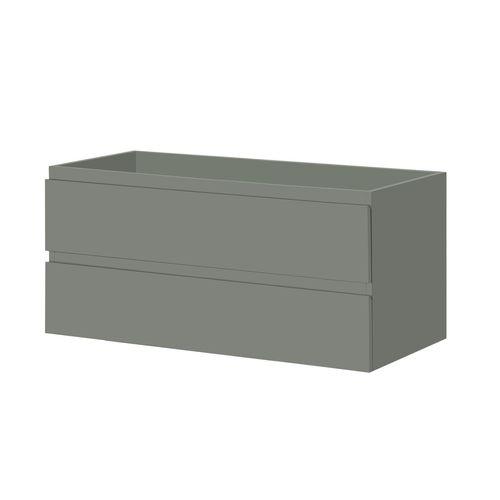 Meuble sous-lavabo Aquazuro Napoli gris foncé mat 120cm