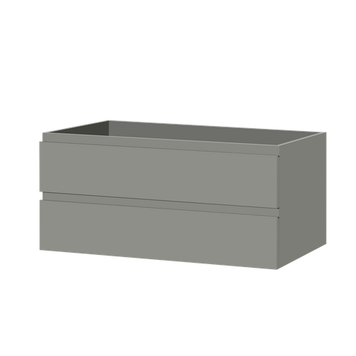 Meuble sous-lavabo Aquazuro Napoli gris brilllant 120cm