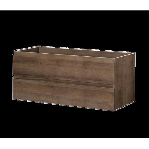 Meuble sous-lavabo Aquazuro Napoli chêne brun 120cm