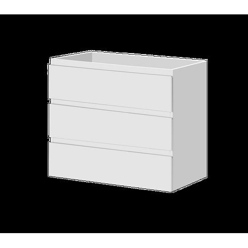 Aquazuro wastafelonderkast Napoli 90cm hoogglangs wit