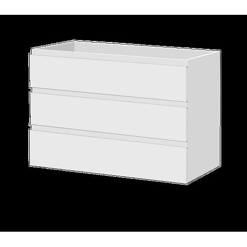 Aquazuro wastafelonderkast Napoli 120cm staand hoogglans wit