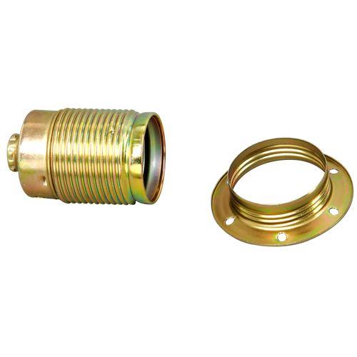 Kopp draadfitting E14 met ring messing