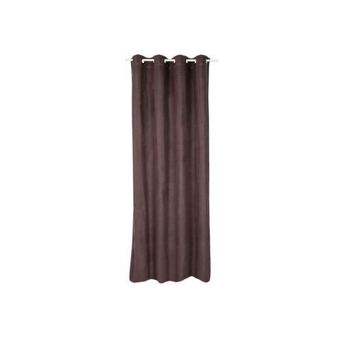 Gordijn 'Chicago' lichtdoorlatend bruin 140 x 250cm