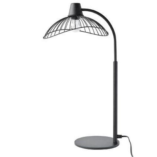 Lampe à poser Seynave 'Kasteli' noir 40 W
