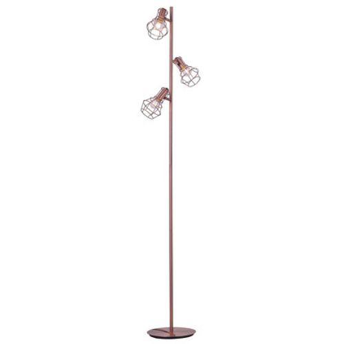 Seynave staanlamp 'Magellan' koper 3 x 40 W