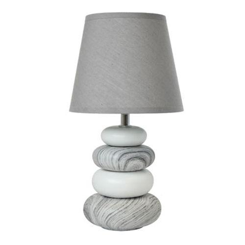 Lampe à poser Seynave 'Arizona' gris 40 W