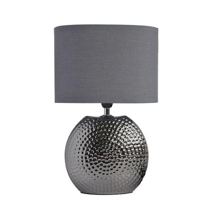 Lampe à poser Seynave 'Dixon' gris 40 W