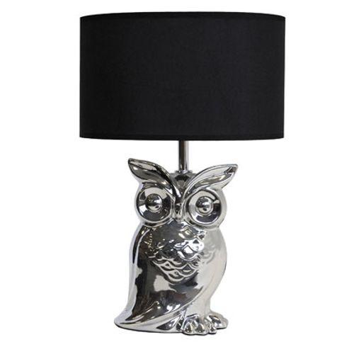 Seynave tafellamp 'Ginger' chroom/zwart 40 W