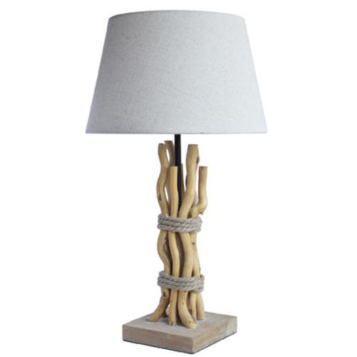 Seynave tafellamp 'Telma' naturel/wit 40 W