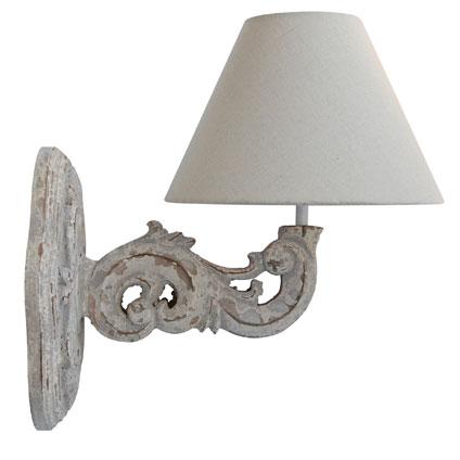 Seynave wandlamp 'Chaverny' taupe 40 W