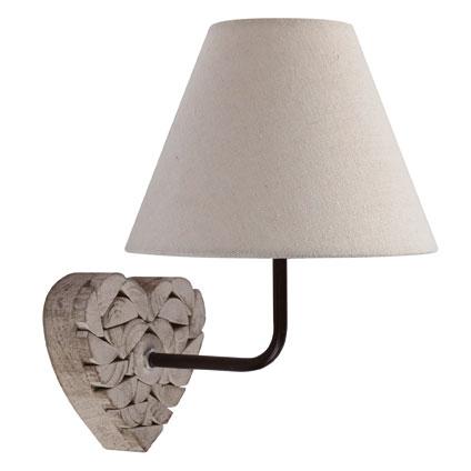 Seynave wandlamp 'Carlita' naturel 40 W