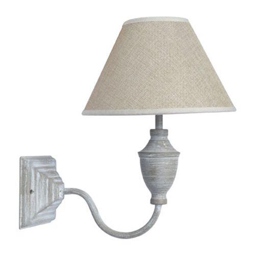 Seynave wandlamp 'Luton' grijs/taupe 40 W