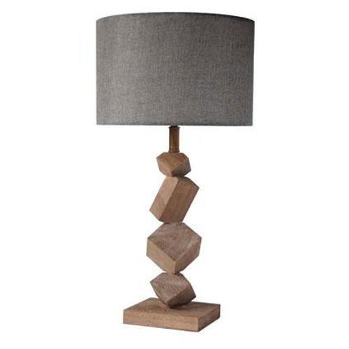 Seynave tafellamp 'Murcia' bruin/grijs 40 W