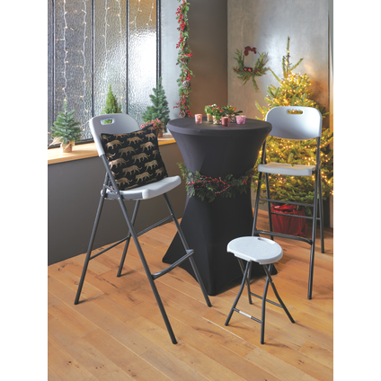 Table de cocktail Party blanc Ø80cm