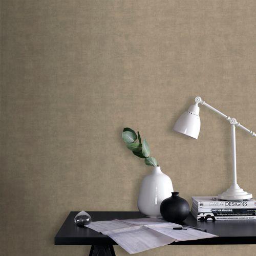 Papier peint intissé DecoMode Concrete mat taupe
