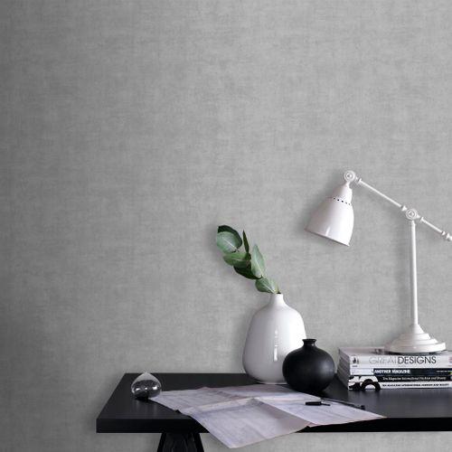 Papier peint intissé Decomode Concrete mat gris clair