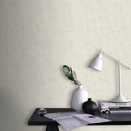 Papier peint intissé Decomode 'Concrete' blanc