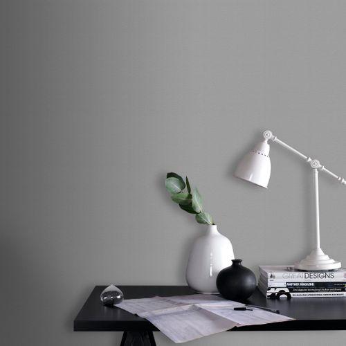 Papier peint intissé Decomode textile gris