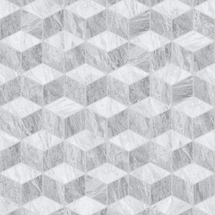 Papier peint intissé DecoMode Geometric marble gris