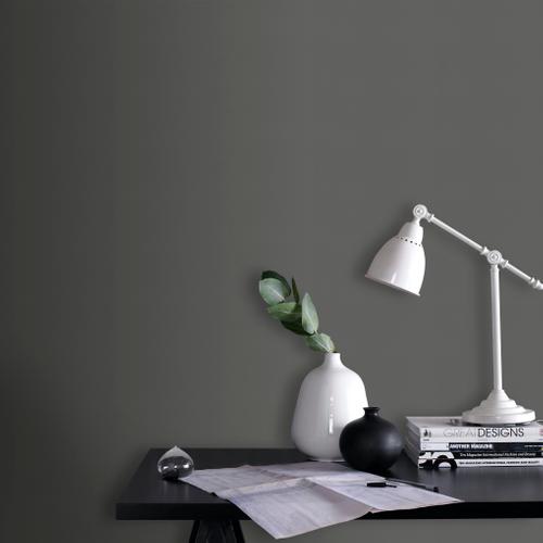 Papier peint intissé Decomode Pumice gris foncé