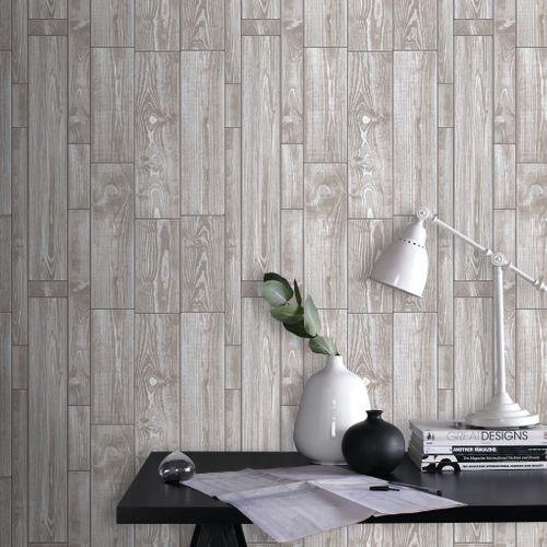 Papier peint intissé Decomode texture bois beige
