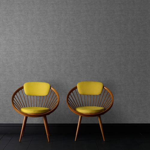 Papier peint intissé Decomode lin beton gris