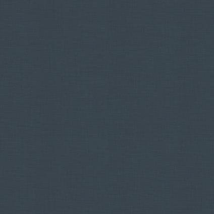 DecoMode vliesbehang Linnen uni donkerblauw