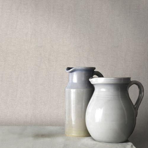 Papier peint intissé DecoMode textile luxe beige