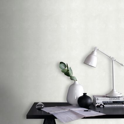 Sencys overschilderbaar vliesbehang Concrete wit