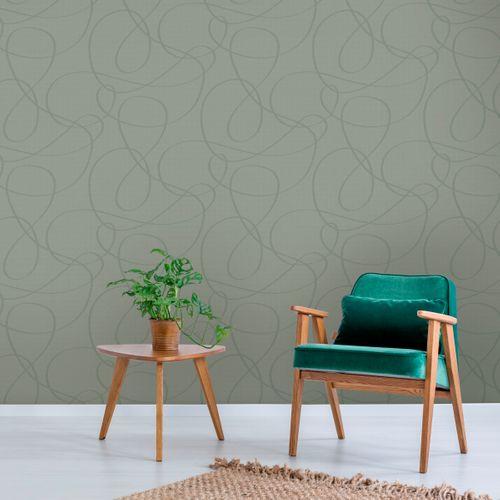 Decomode vliesbehang Wire groen