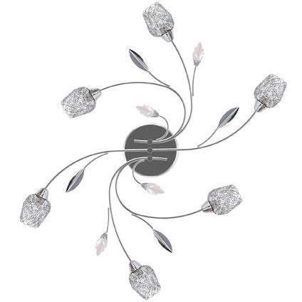 Plafonnier Seynave 'Adriana' chrome 6 x 28 W