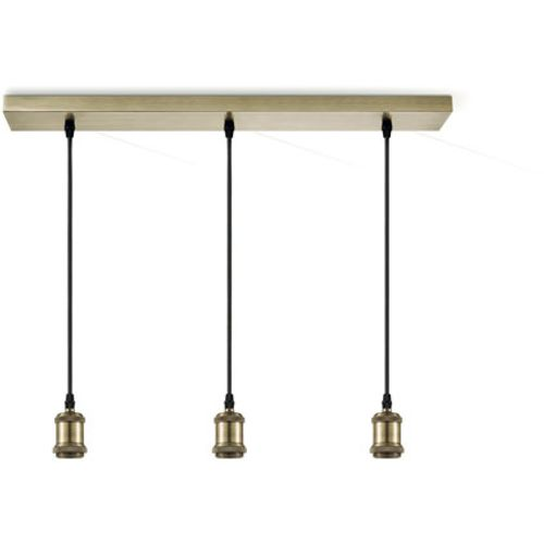 Suspension Home Sweet Home 'Vintage' bronze 3 x 60 W