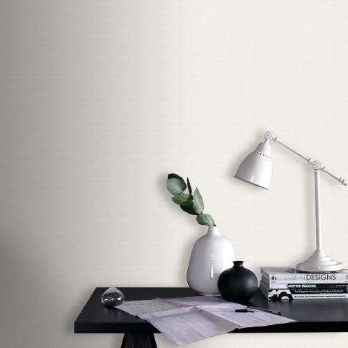 Sencys overschilderbaar vliesbehang Textiel wit