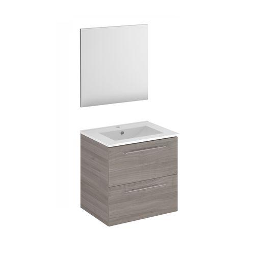 Meuble de salle de bain Royo Level chêne gris 80cm