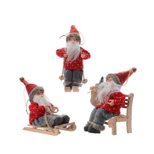 Hangertjes vilten kerstmannen diverse varianten 1 stuk