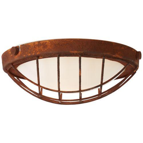 Brilliant plafondlamp Sirocco roest E27