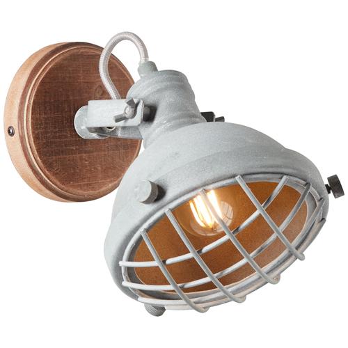 Brilliant wandlamp Mila betongrijs E14