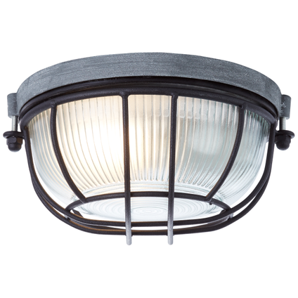 Brilliant plafondlamp Lauren betongrijs zwart 19cm E27