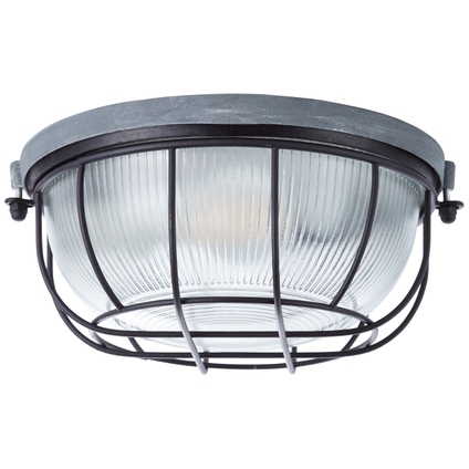 Brilliant plafondlamp Lauren betongrijs zwart 25,5cm E27