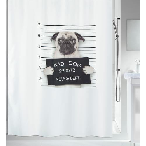 Spirella douchegordijn Bad Dog zwart 180cm