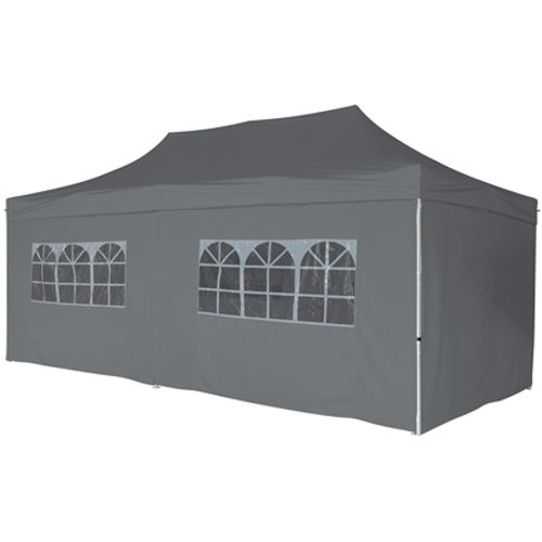 Central park partytent zijwand Quick Up Pro XL 3x6m donkergrijs