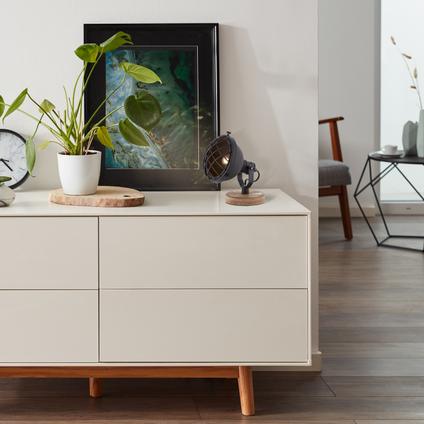 Lampe de table Brilliant 'Mila' noir 25W