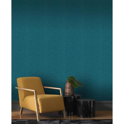 Papier peint intissé 490091 béton mat turquoise