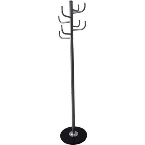 Best Home Products staande kapstok zwart 8 haken