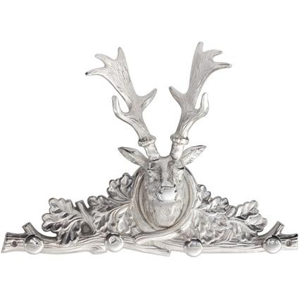 Best Home Products wandkapstok Hertenkop met 4 haken