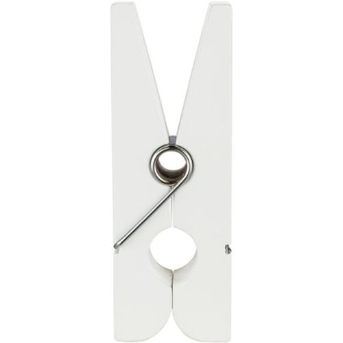 Witte houten wasknijper
