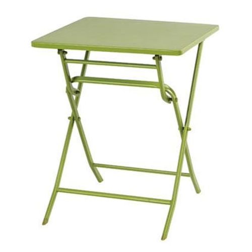 Central Park tafel Stacy staal 60x60cm groen