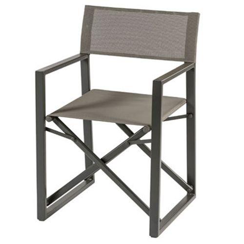 Chaise de jardin Central Park 'Cinema' textilène gris
