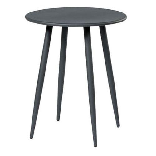 Table bistro Central Park 'Lascaux' aluminium acier gris foncé