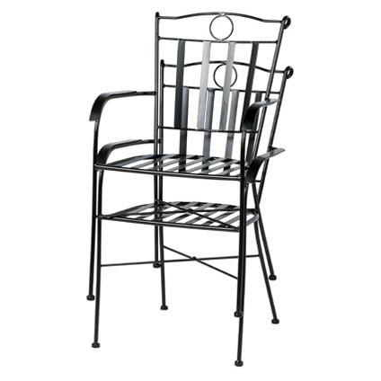Chaise de jardin Central Park 'Ramira' acier noir